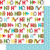 Bella Blvd - Santa Squad Collection - 12 X 12 Double Sided Paper - Ho Ho Ho