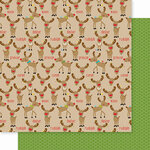 Bella Blvd - Santa Squad Collection - 12 X 12 Double Sided Paper - Reindeer Crossing