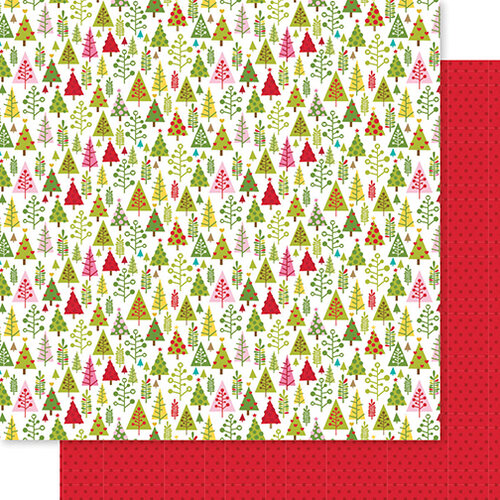 Bella Blvd - Santa Squad Collection - 12 X 12 Double Sided Paper - Tree Trimming