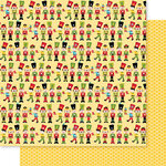 Bella Blvd - Santa Squad Collection - 12 X 12 Double Sided Paper - Nutcrackers
