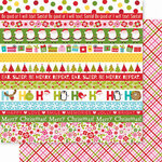 Bella Blvd - Santa Squad Collection - 12 X 12 Double Sided Paper - Borders