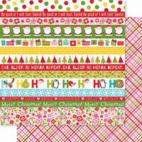 Bella Blvd - Santa Squad Collection - 12 X 12 Double Sided Paper - Santa Squad Borders