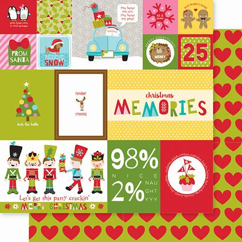 Bella Blvd - Santa Squad Collection - 12 X 12 Double Sided Paper - Daily Details