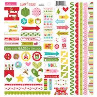 Bella Blvd - Santa Squad Collection - Doohickey - 12 x 12 Cardstock Stickers