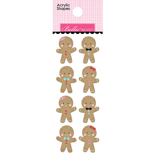 Bella Blvd - Santa Squad Collection - Acrylic Shapes - Gingerbreads