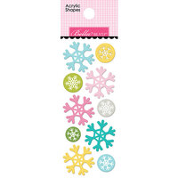 Bella Blvd - Santa Squad Collection - Acrylic Shapes - Snowflakes