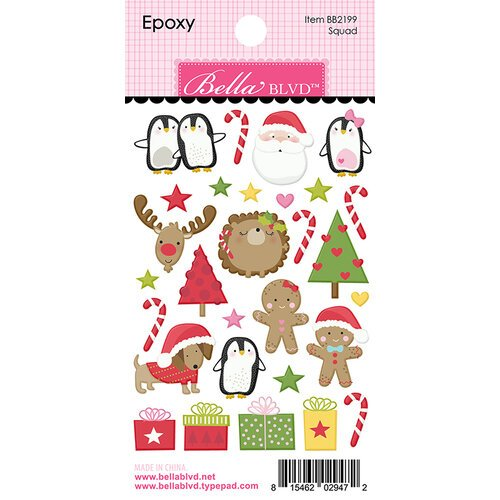 Bella Blvd - Santa Squad Collection - Epoxy Stickers - Squad