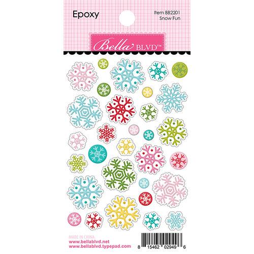 Bella Blvd - Santa Squad Collection - Epoxy Stickers - Snow Fun