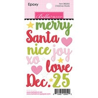 Bella Blvd - Santa Squad Collection - Epoxy Stickers - Christmas Words