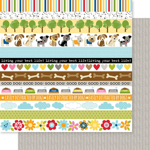 Bella Blvd - Cooper Collection - 12 x 12 Double Sided Paper - Borders