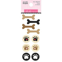 Bella Blvd - Cooper Collection - Acrylic Shapes - Paws and Treats