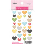 Bella Blvd - Cooper Collection - Epoxy Stickers - Hearts Dog Mix
