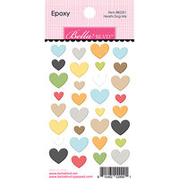 Bella Blvd - Cooper Collection - Epoxy Stickers - Hearts Dog Mix