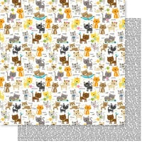Bella Blvd - Chloe Collection - 12 x 12 Double Sided Paper - Cat Crazy
