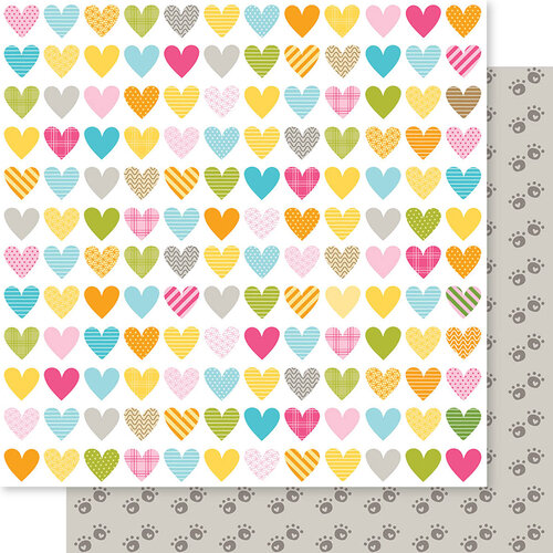 Bella Blvd - Chloe Collection - 12 x 12 Double Sided Paper - Heart Warmer