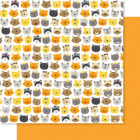 Bella Blvd - Chloe Collection - 12 x 12 Double Sided Paper - Cattitude