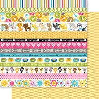 Bella Blvd - Chloe Collection - 12 x 12 Double Sided Paper - Borders