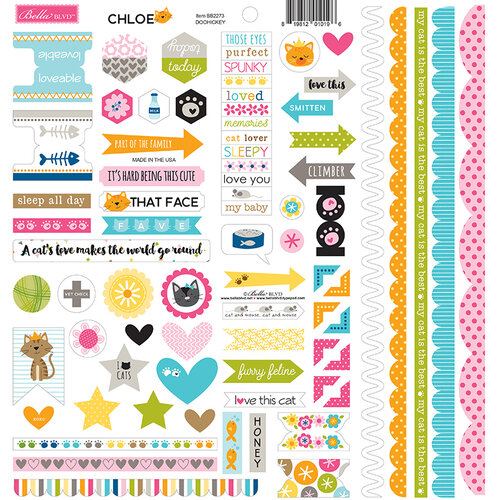 Bella Blvd - Chloe Collection - Doohickey - 12 x 12 Cardstock Stickers