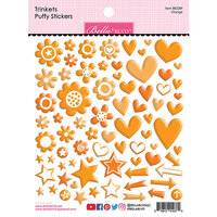 Bella Blvd - Besties Collection - Puffy Stickers - Orange Trinkets