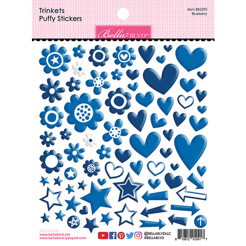 Bella Blvd - Besties Collection - Puffy Stickers - Blueberry Trinkets