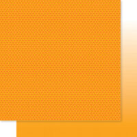 Bella Blvd - Besties Collection - 12 x 12 Double Sided Paper - Orange Hearts & Ombre