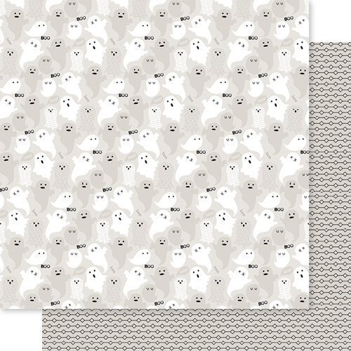 Bella Blvd - Monsters and Friends Collection - 12 x 12 Double Sided Paper - Hey Boo