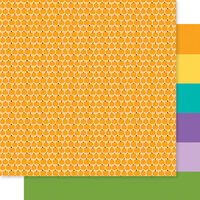 Bella Blvd - Monsters and Friends Collection - 12 x 12 Double Sided Paper - Lil' Pumpkins