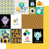 Bella Blvd - Monsters and Friends Collection - 12 x 12 Double Sided Paper - Daily Details