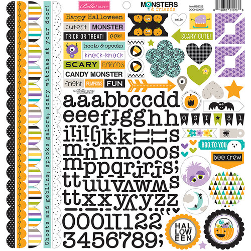 Bella Blvd - Monsters and Friends Collection - 12 x 12 Cardstock Stickers - Doohickey