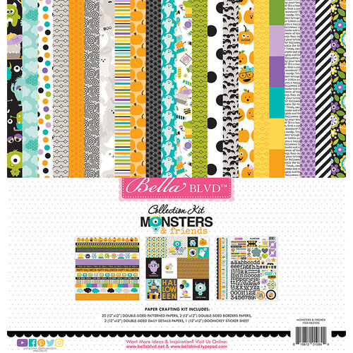 Bella Blvd - Monsters and Friends Collection - 12 x 12 Collection Kit