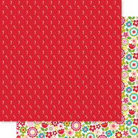 Bella Blvd - Fa La La Collection - 12 x 12 Double Sided Paper - Candy Cane Cuties