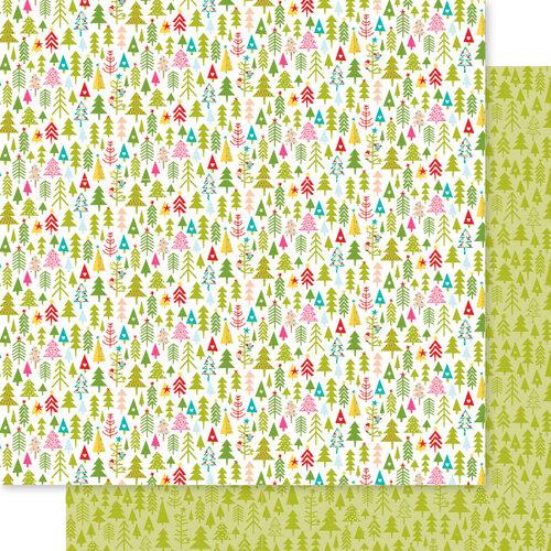 Bella Blvd - Fa La La Collection - 12 x 12 Double Sided Paper - Tree Trimmer