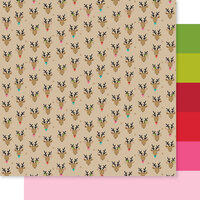 Bella Blvd - Fa La La Collection - 12 x 12 Double Sided Paper - Oh Deer