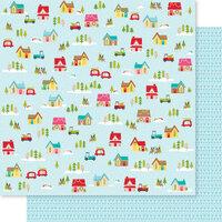Bella Blvd - Fa La La Collection - 12 x 12 Double Sided Paper - Christmas Village