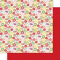 Bella Blvd - Fa La La Collection - 12 x 12 Double Sided Paper - Deck the Halls