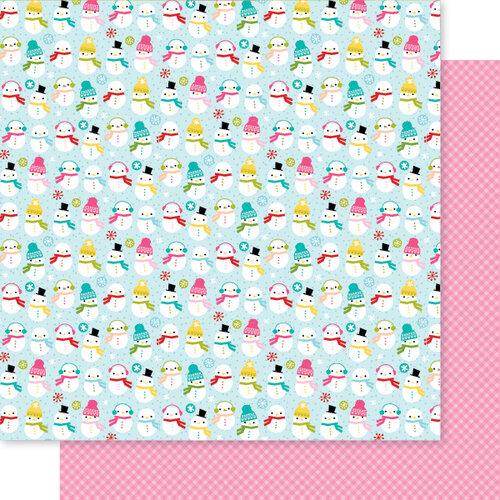 Bella Blvd - Fa La La Collection - 12 x 12 Double Sided Paper - Hot Chocolate Weather