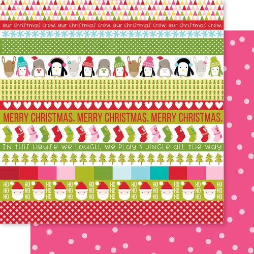 Bella Blvd - Fa La La Collection - 12 x 12 Double Sided Paper - Fa La La Borders