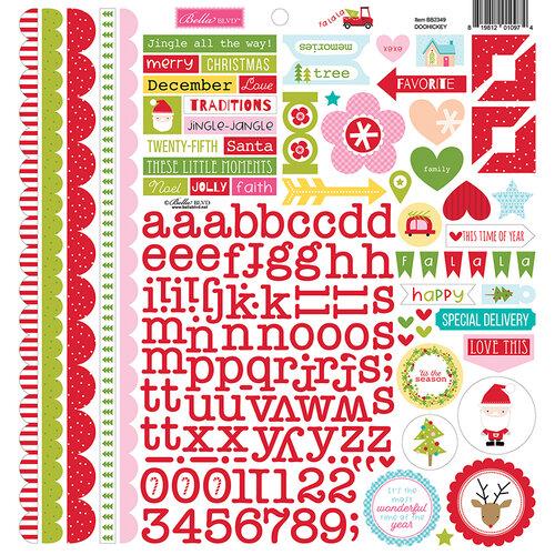 Bella Blvd - Fa La La Collection - 12 x 12 Cardstock Stickers - Doohickey