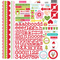 Bella Blvd - Fa La La Collection - 12 x 12 Cardstock Stickers - Doohickey