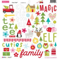 Bella Blvd - Fa La La Collection - 12 x 12 Chipboard Icons