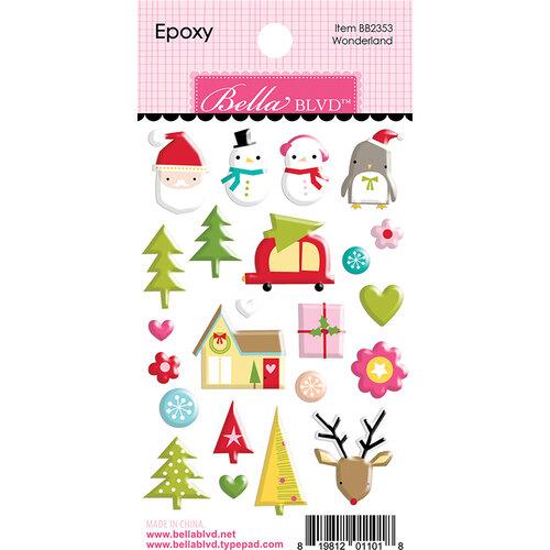 Bella Blvd - Fa La La Collection - Epoxy Stickers - Wonderland