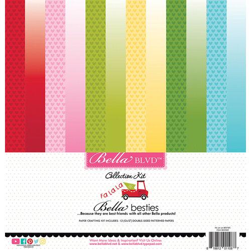 Bella Blvd - Fa La La Collection - Besties - 12 x 12 Paper Pack