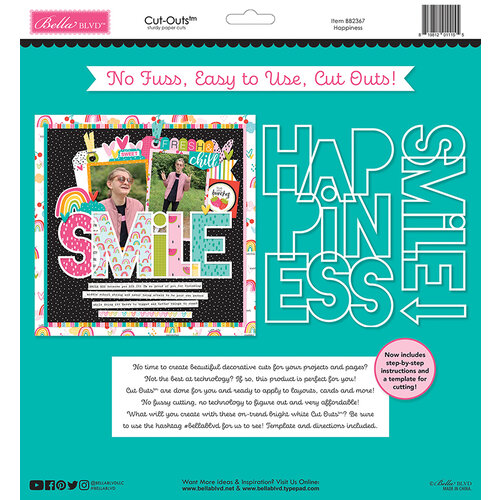 Bella Blvd - Besties Collection - Cut Outs - Happiness