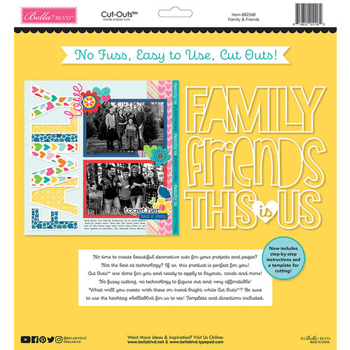 Bella Blvd - Besties Collection - Cut Outs - Family & Friends