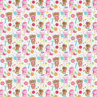 Bella Blvd - My Candy Girl Collection - 12 x 12 Double Sided Paper - Candy Crazy