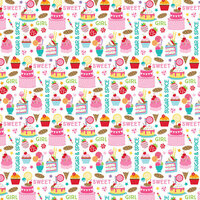 Bella Blvd - My Candy Girl Collection - 12 x 12 Double Sided Paper - Sweet As Sugar