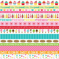 Bella Blvd - My Candy Girl Collection - 12 x 12 Double Sided Paper - Borders