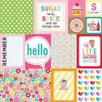 Bella Blvd - My Candy Girl Collection - 12 x 12 Double Sided Paper - Daily Details