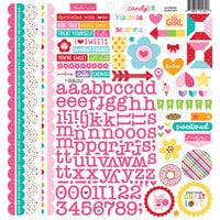 Bella Blvd - My Candy Girl Collection - Doohickey - 12 x 12 Cardstock Stickers