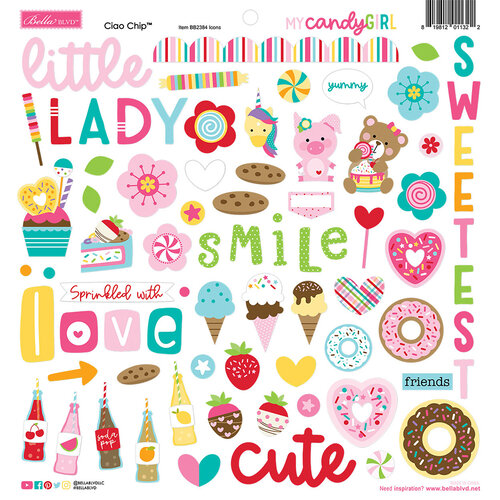 Bella Blvd - My Candy Girl Collection - Chipboard Stickers Icons